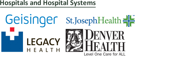 Select Health Literacy Innovations (HLI) clients by market: managed care, health insurance, specialty care, cancer care, children care, hospital systems, hospitals, community health care, public health